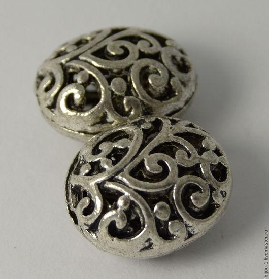 Ажурные бусины цвет сребро