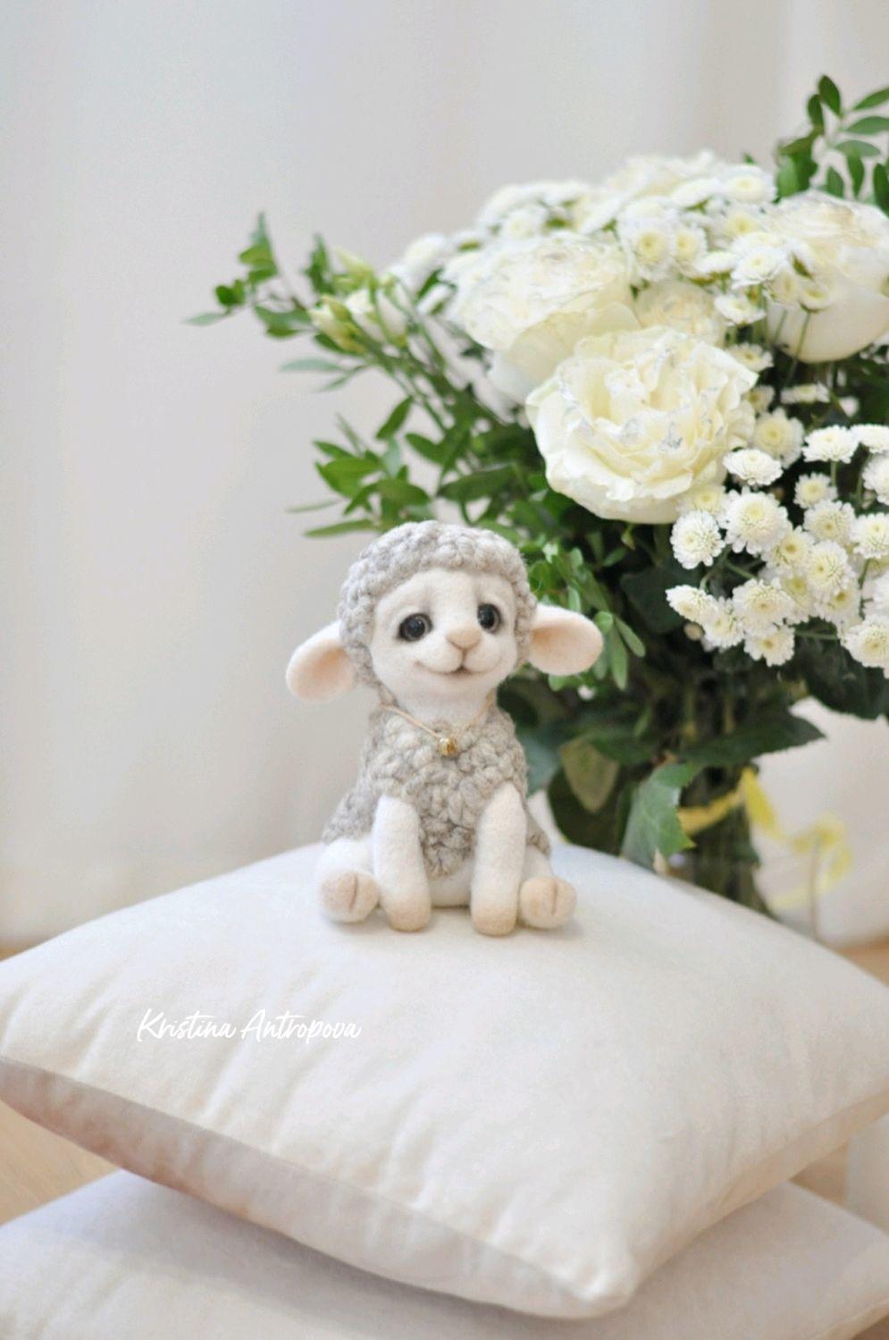 Валяная игрушка овечка, Войлочная игрушка, Архангельск,  Фото №1