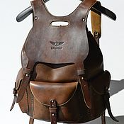 Сумки и аксессуары handmade. Livemaster - original item Handmade leather backpack. Brown. TARAKAN. Author`s work.. Handmade.