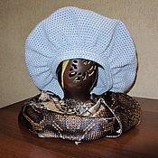 """Аксессуары ручной работы. Ярмарка Мастеров - ручная работа Берет """"Шарм"""" серо-голубого цвета. Handmade."""