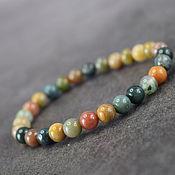 Украшения handmade. Livemaster - original item Natural green moss agate bracelet. Handmade.