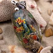"""Украшения ручной работы. Ярмарка Мастеров - ручная работа Lampwork кулон """"Карибское море"""". Handmade."""