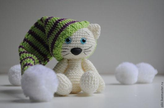 Игрушки животные, ручной работы. Ярмарка Мастеров - ручная работа. Купить Вязанная игрушка котик. Handmade. Амигуруми, кот
