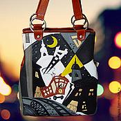 """Сумки и аксессуары ручной работы. Ярмарка Мастеров - ручная работа Кожаная сумка """"Трамвай желаний"""". Handmade."""