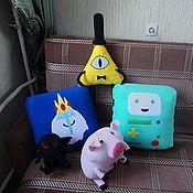 Для дома и интерьера ручной работы. Ярмарка Мастеров - ручная работа Adventure Time подушка Ледяной король. Handmade.
