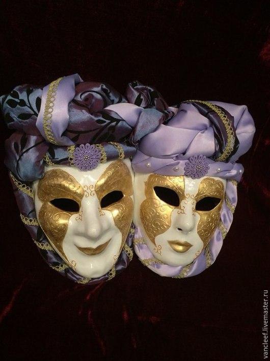 Интерьерные  маски ручной работы. Ярмарка Мастеров - ручная работа. Купить Интерьерная композиция Luxury. Handmade. Сиреневый, декор дома