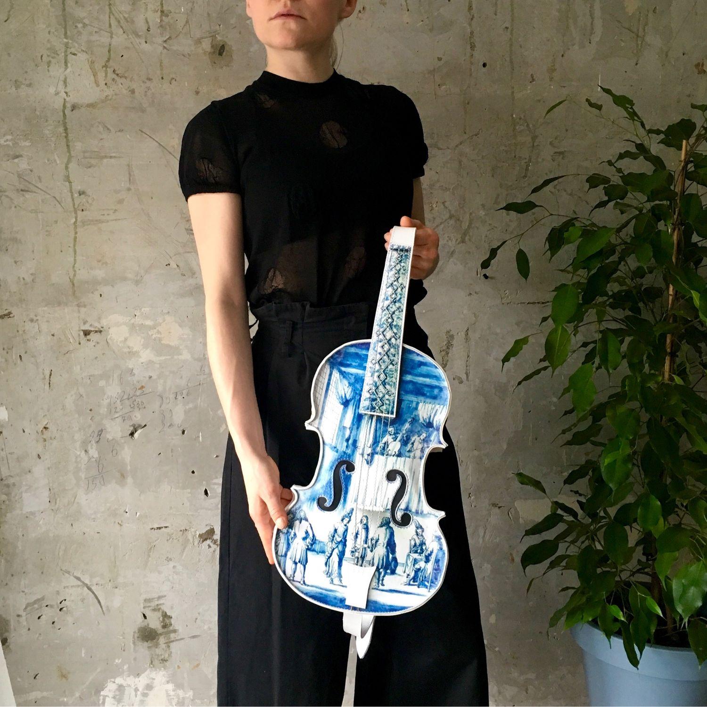 Рюкзак Делфтская фарфоровая скрипка, Классическая сумка, Москва,  Фото №1
