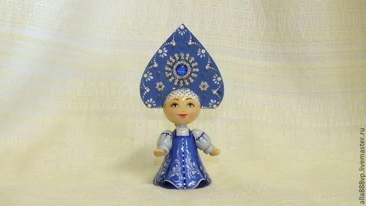 Сувениры ручной работы. Ярмарка Мастеров - ручная работа. Купить Кукла из дерева Снегурочка. Handmade. Кукла, деревянная игрушка, снегурочка