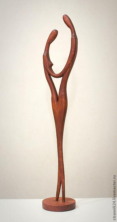 """Статуэтки ручной работы. Ярмарка Мастеров - ручная работа. Купить """"Встреча"""" скульптура из дерева. Handmade. Коричневый, любовь, двое, статуэтка"""