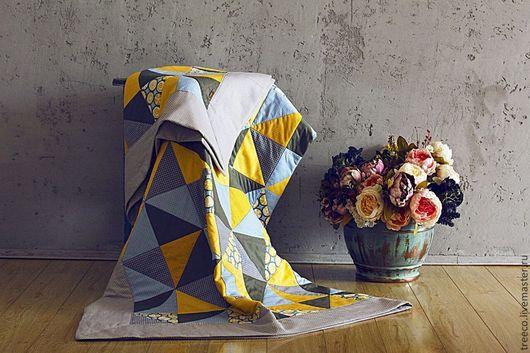 Текстиль, ковры ручной работы. Ярмарка Мастеров - ручная работа. Купить Лоскутное одеяло 160х200 см. Handmade. Голубой