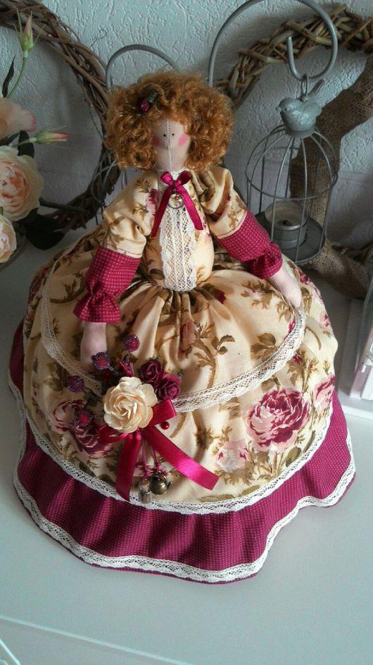 Куклы Тильды ручной работы. Ярмарка Мастеров - ручная работа. Купить Грелка на чайник. Винтажные розы.. Handmade. Тильда