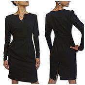 Одежда handmade. Livemaster - original item Dress black knee length pencil with a slit. Handmade.