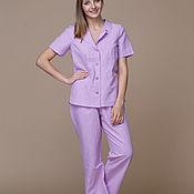 Одежда handmade. Livemaster - original item Linen pajamas. 100% linen. Softened.. Handmade.