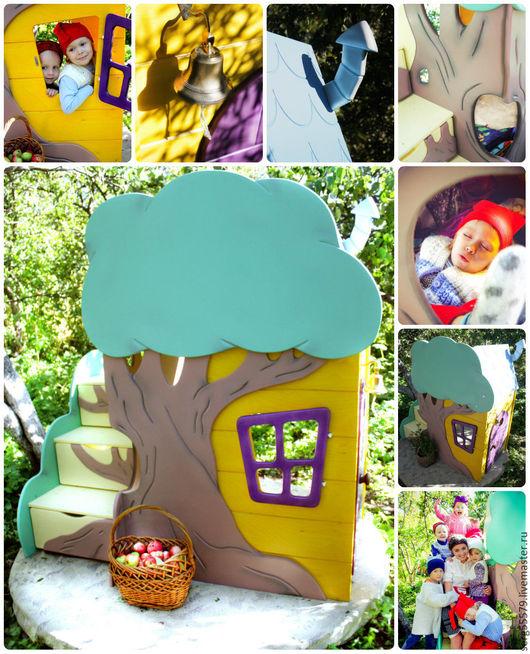 Детская ручной работы. Ярмарка Мастеров - ручная работа. Купить Игровой дом для детей. Handmade. Комбинированный, труба, сказка