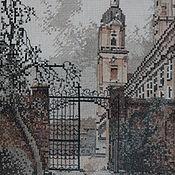 """Картины и панно ручной работы. Ярмарка Мастеров - ручная работа Картина (вышитая крестиком) """"Старый город"""". Handmade."""