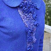 Одежда ручной работы. Ярмарка Мастеров - ручная работа Жакет валяный Самые синие розы. Handmade.
