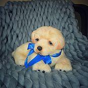 Куклы и игрушки handmade. Livemaster - original item Soft Toys: Realistic White Puppy Toy. Handmade.