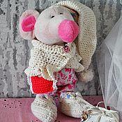 Куклы и игрушки ручной работы. Ярмарка Мастеров - ручная работа %Мышка - сплюшка). Handmade.