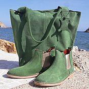 Обувь ручной работы. Ярмарка Мастеров - ручная работа Комплект Изумруд. Handmade.