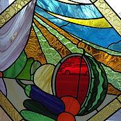 """Картины и панно ручной работы. Ярмарка Мастеров - ручная работа витражное  панно """" урожай"""". Handmade."""
