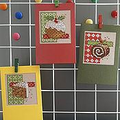 Открытки handmade. Livemaster - original item Cards: Delicious Christmas, collection. Handmade.