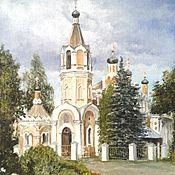 Картины и панно handmade. Livemaster - original item Painting: oil on canvas St. Nicholas Church. Handmade.