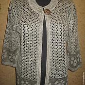 Одежда handmade. Livemaster - original item LINEN JACKET WITH FRINGE IN THE STYLE OF PANCRAS. Handmade.