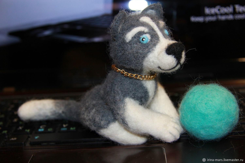 Собака серая, сидит, Мягкие игрушки, Санкт-Петербург,  Фото №1