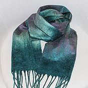 Аксессуары handmade. Livemaster - original item Felted scarf mens