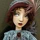 Будуарная кукла из дерева и папьемаше 65см, Коллекционные куклы, Новосибирск, Фото №1