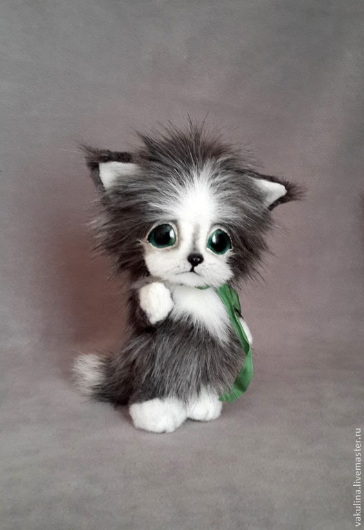 Мишки Тедди ручной работы. Ярмарка Мастеров - ручная работа. Купить котенок Дымок. Handmade. Серый, друг тедди, милота
