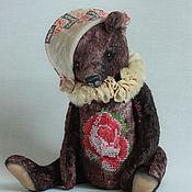 Куклы и игрушки ручной работы. Ярмарка Мастеров - ручная работа Интерьерный мишка с вышивкой.. Handmade.