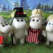 Куклы и игрушки ручной работы. Ярмарка Мастеров - ручная работа Семейство Муми. Handmade.
