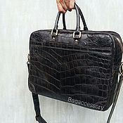 Сумки и аксессуары handmade. Livemaster - original item Briefcase made of genuine leather crocodile. Handmade.