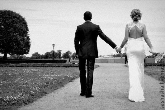 Одежда и аксессуары ручной работы. Ярмарка Мастеров - ручная работа. Купить Платье невесты. Handmade. Белый, атлас-стрейч