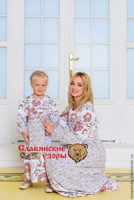 """Одежда для девочек, ручной работы. Ярмарка Мастеров - ручная работа. Купить Платье """"Нежная вышивка"""". Handmade. Белый, для детей, в пол"""