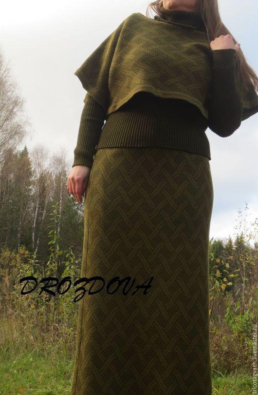 Юбки ручной работы. Ярмарка Мастеров - ручная работа. Купить жаккардовая юбка. Handmade. Комбинированный, вязание на заказ, юбка в пол