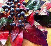 """Украшения ручной работы. Ярмарка Мастеров - ручная работа """"Роскошная осень"""" колье и серьги. Handmade."""