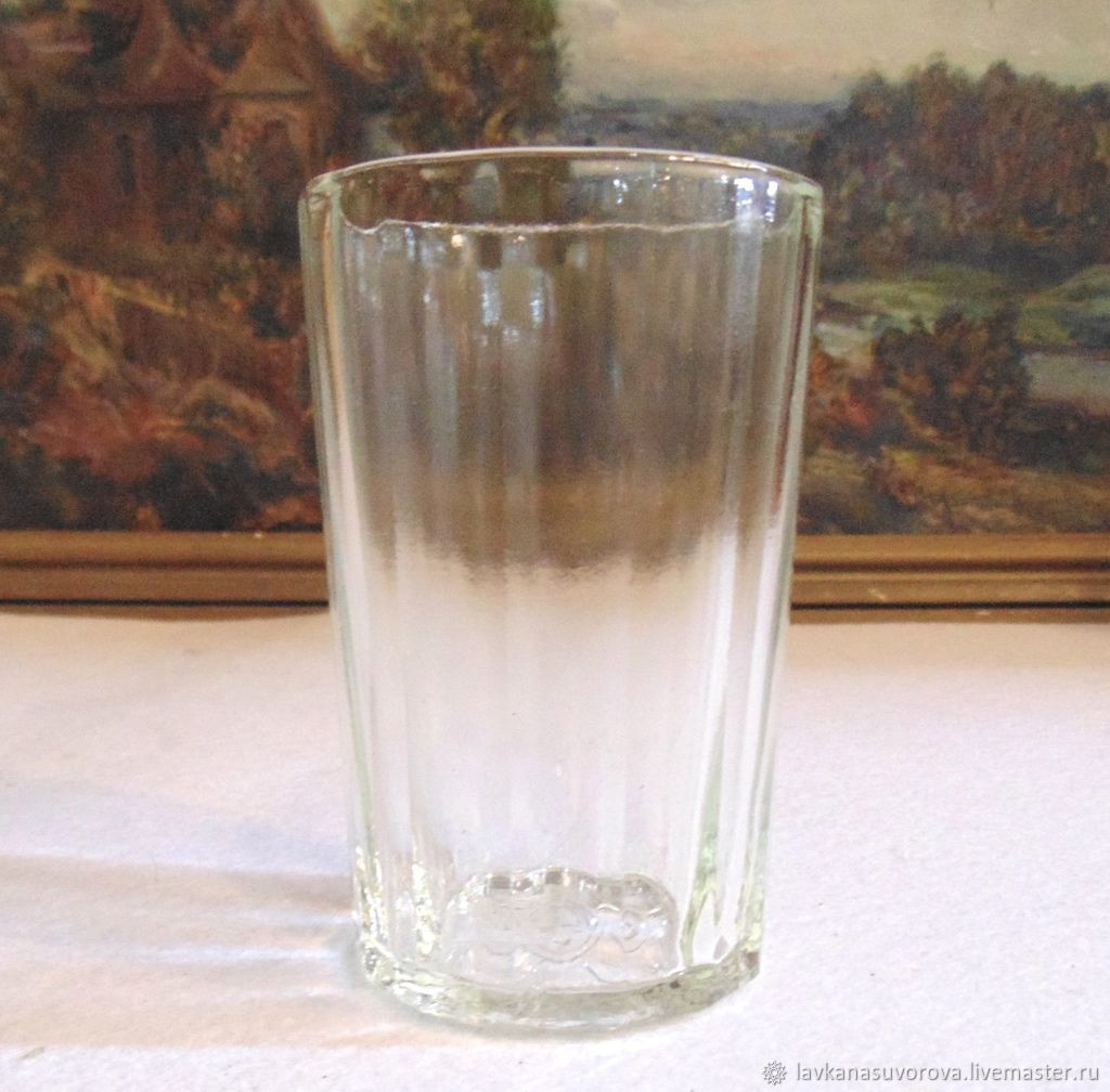 A STACK of FACETED GLASS, Union glass, Vintage glasses, Rostov-on-Don,  Фото №1