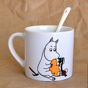 """Посуда ручной работы. Ярмарка Мастеров - ручная работа Чашка кофейная  """"Муми-троль"""". Handmade."""