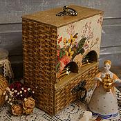 Для дома и интерьера ручной работы. Ярмарка Мастеров - ручная работа Буфет для чайных пакетиков Садовые розы. Handmade.