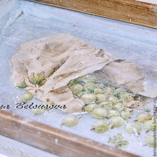 """Кухня ручной работы. Ярмарка Мастеров - ручная работа. Купить Поднос """"Лето"""".. Handmade. Салатовый, ручная работа handmade, воск"""