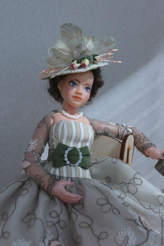 Коллекционные куклы ручной работы. Ярмарка Мастеров - ручная работа. Купить Эля или романтика 50-х. Handmade. Оливковый