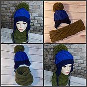 Работы для детей, ручной работы. Ярмарка Мастеров - ручная работа Комплект для мальчика(шапочка и снуд). Handmade.