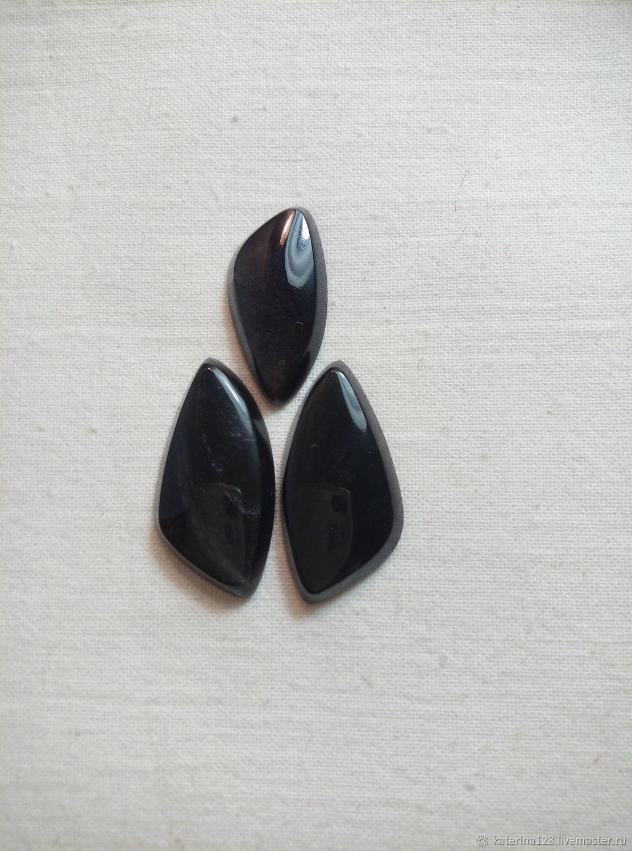 Gray obsidian cabochons, Cabochons, Alapaevsk,  Фото №1