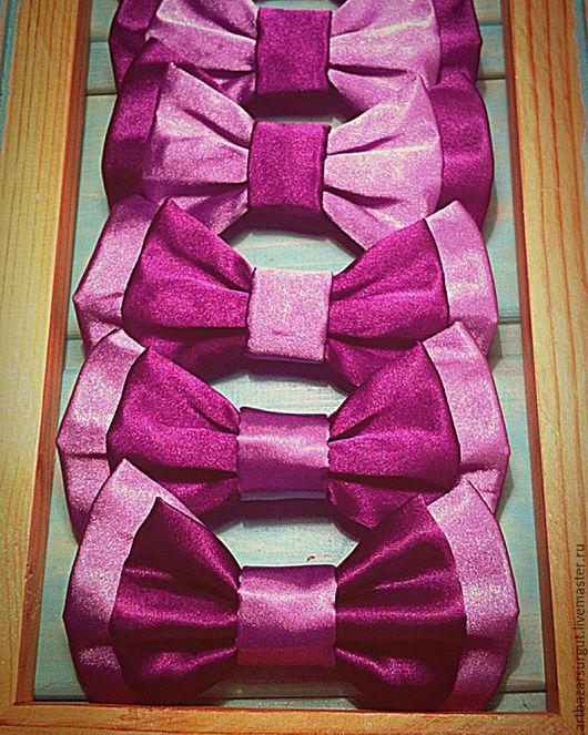 Галстуки, бабочки ручной работы. Ярмарка Мастеров - ручная работа. Купить Набор галстуков - бабочек. Handmade. Фиолетовый, бабочка на шею