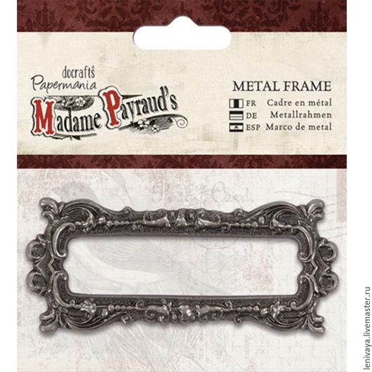 Рамка декоративная металлическая