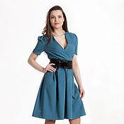 Одежда ручной работы. Ярмарка Мастеров - ручная работа 180: женское платье с запахом, повседневное платье с запахом. Handmade.