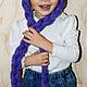 Шапки и шарфы ручной работы. сиреневая шапка с косами. Yulia Tikhonravova. Интернет-магазин Ярмарка Мастеров. Однотонный