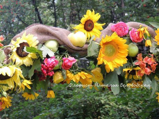 Свадебные цветы ручной работы. Ярмарка Мастеров - ручная работа. Купить Подсолнуховая арка. Handmade. Свадьба, свадебная флористика, подсолнухи
